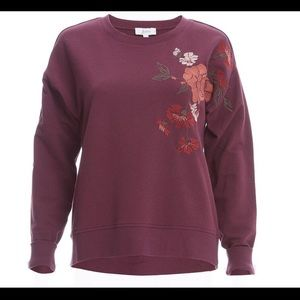 🆕 Jessica Simpson Wine Embroidered Sweatshirt